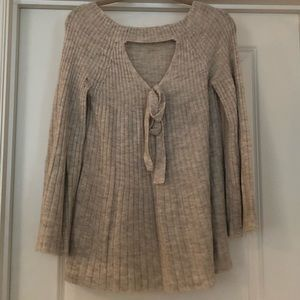 Lauren Conrad Bell Sleeve and Open Back Sweater